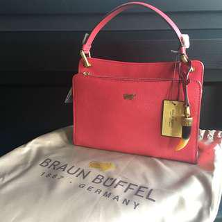 Braun buffel small handle bag pink