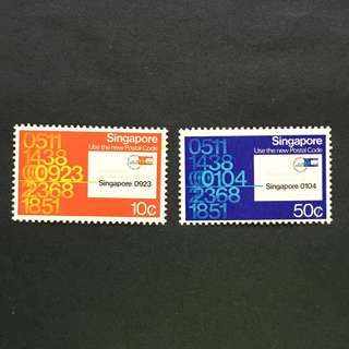 Singapore 1979 Postal Code full set of 2v MnH