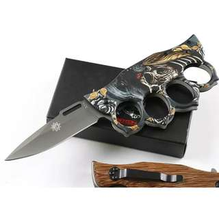 3D texture Devil X71 Limited Edition Aluminum Handle hunting tactical camping knife