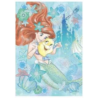 日本直送 The Little Mermaid 小魚仙 Ariel & Flounder 艾莉奧小胖 Puzzle 砌圖 (108 塊)