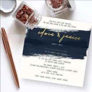 Birthday party and wedding invitations