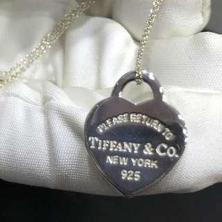 Tiffany & Co Return To Tiffany Medium Heart Tag 925 Silver Necklace (Popular design)