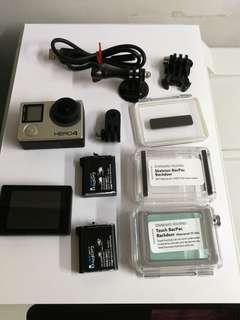 GoPro Hero 4 Black with lcd back