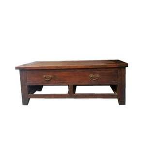 Old antique teak wood coffee table (as is)