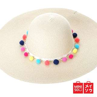 Miniso Straw Hat Topi Jerami Topi Wanita