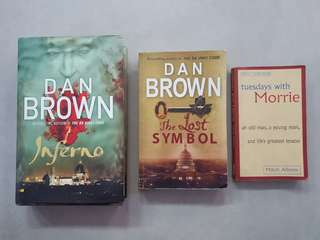 Dan Brown inferno, the lost symbol and Mitch Albom