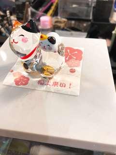 日本一大一細水晶貓 傢俬擺設