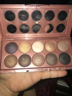 NYX 10 color shadow pallette