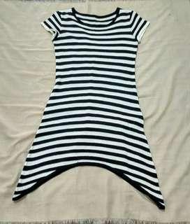 Midi dress stripe DV002