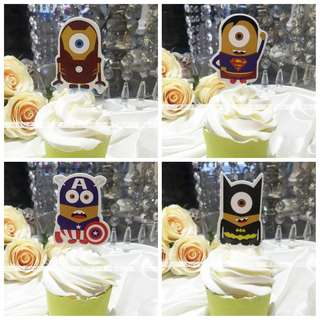BN Minions Avengers Cupcake Muffin Cake Toppers