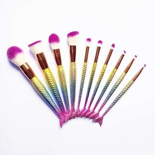 🚚 [VIF] Mermaids in Paradise Make up Brush Set (10pcs)