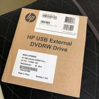 HP USB DVD-RW Writer drive External Portable Optical Notebook Ultrabook