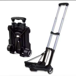 Aluminium Folding Hand Truck Shopping Grocery Foldable Cart Flatbed Dolly Luggage Trolley