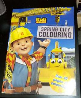 Bob the builder colouring book