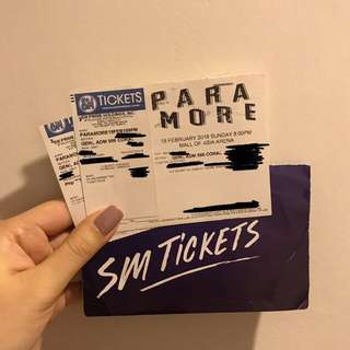 Paramore Concert in Manila - 2 Gen Ad Tickets - August 23