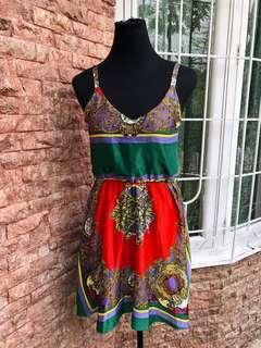Printed dress (good as new)