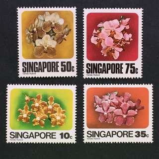 Singapore 1978 Orchids full set of 4v MnH