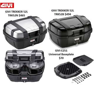 Givi Trekker 52L Top Box with E251 Baseplate