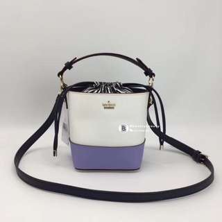 Kate Spade Pippa Bucket Bag - white x purple
