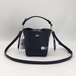 Kate Spade Pippa Bucket Bag - navy blue