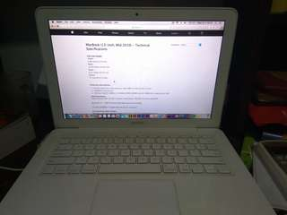 MacBook A1342 RAM 8GB/1TB (Nego)