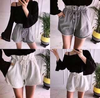 🚚 ✨現貨💕灰色花苞短褲