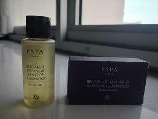 ESPA London shampoo & cleansing bar for sales