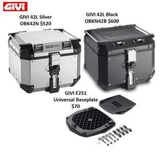Givi Trekker 42L Top Box with E251 Baseplate