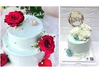 鮮花雜果蛋糕
