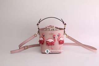 Kate Spade Pippa Bucket Bag - flamingo