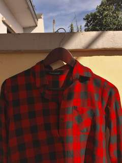 REPRICED! Topshop Red Flannel