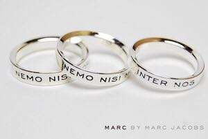 Marc by Marc Jacobs Latin silver ring