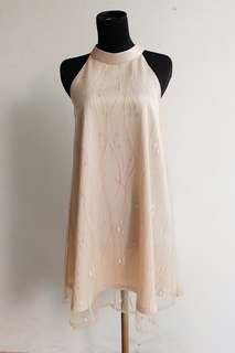 Dress Nude Gold