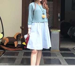 Dress Korea Hijau