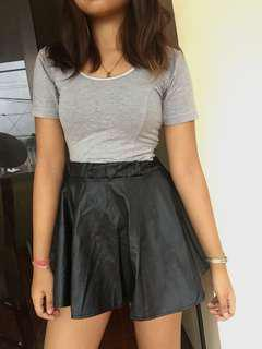 TOPSHOP synthetic leather skirt