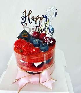 紅絲絨裸蛋糕