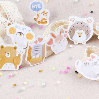 🌟BN INSTOCKS Assorted Adorable Animals Stickers Box