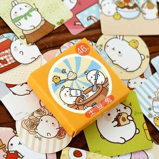 🌟BN INSTOCKS Adorable Chubby Rice Bean Bunnies Stickers Box