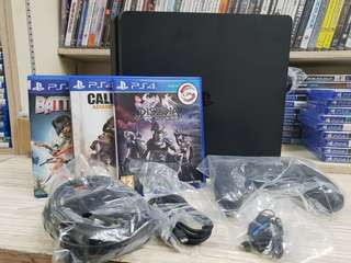 PS4 Slim 500GB Console + 3 Games (Used)