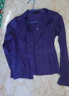 🚚 紫藍襯衫