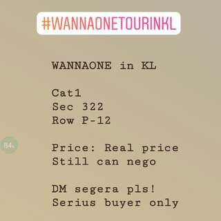 Wanna One Tour in KL Cat 1