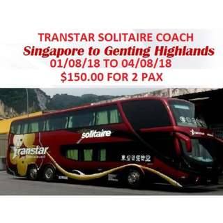 GENTING RETURN COACH TICKET TRANSTAR LUXURIOUS SOLITAIRE