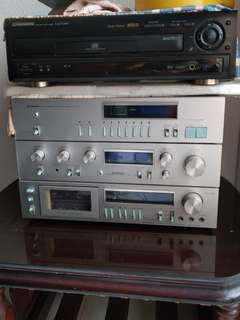 Old Pioneer Stereo AV Receiver and Pioneer LD Player