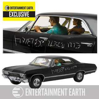 "1:18 scale diecast 1967 Chevrolet Impala Limited Edition (with Sam/ Dean figures and Enochian writing on the side) from the TV series ""Supernatural"", Season 9 Episode 16"