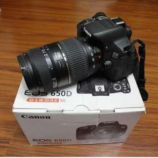 【出售】Canon 650D 數位單眼相機 彩虹公司貨