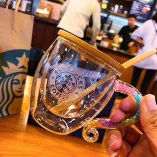 🚚 彩虹水晶玻璃杯禮盒(含木杯蓋,木勺,禮盒,袋子)