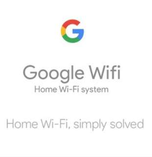Google wifi mesh 3 pack.