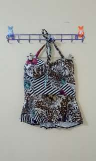 Tube with tie bustier top