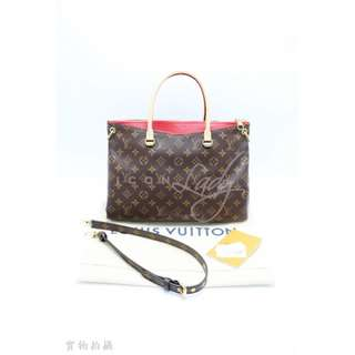LV M41175 Pallas 櫻桃紅色Monogram 帆布 肩背袋 手袋