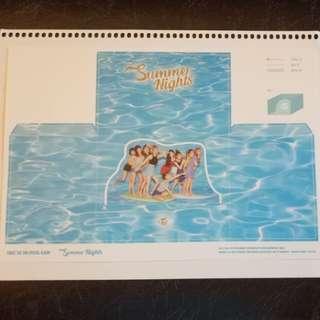 Twice Summer Night ablum DIY Paper Postcard